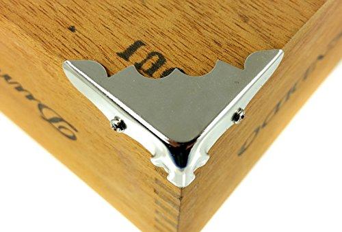 8pcs Decorative Shiny Nickel Plated Metal Box Corners