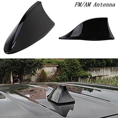 (Ronben Black Universal Auto Car Roof Radio AM/FM Signal Shark Fin Style Aerial Antenna)