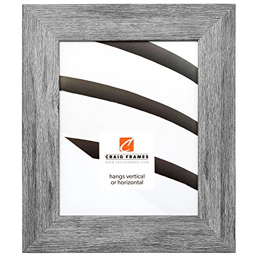 Craig Frames 74030 11 by 14-Inch Picture Frame, Smooth Wrap Finish, 2-Inch Wide, Gray Barnwood