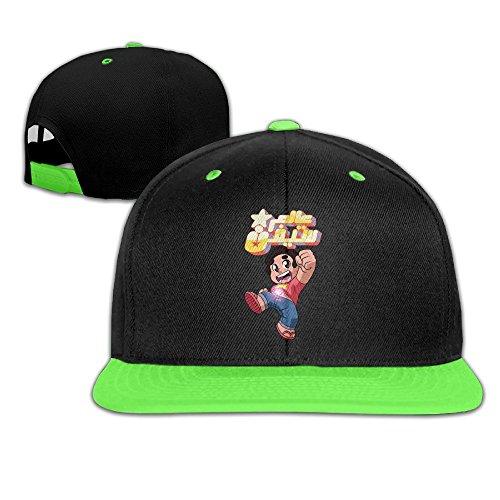 WYUZHEN Kid's Steven Quartz Universe Hip-hop Snapback Hat Caps KellyGreen