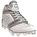 WARRIOR Men's Burn Speed 6.0 Mid Lacrosse Cleats - Size: 13, White/silver BURN6WT