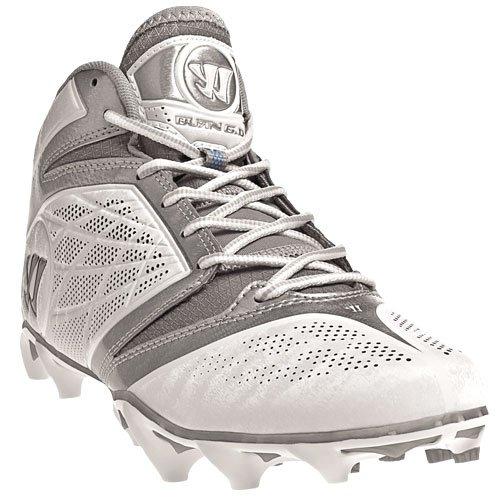 WARRIOR Men's Burn Speed 6.0 Mid Lacrosse Cleats - Size: 13, White/silver BURN6WT