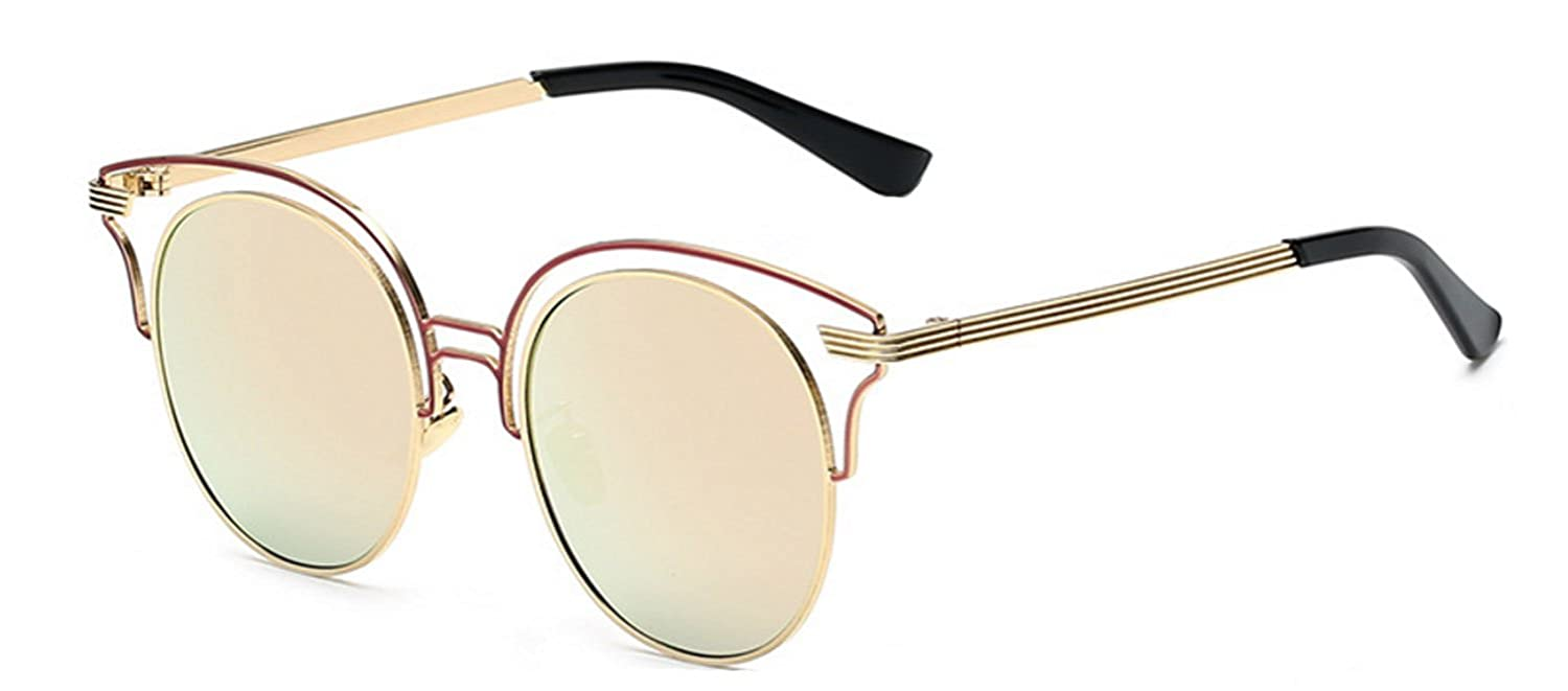 Round Retro Vintage Circle Style Sunglasses Colored Metal Frame Small frame 45mm and 55 mm