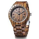Best Design Watches - Men's Wooden Watch,BIOSTON Natural Handmade Luxury Golden Design Review