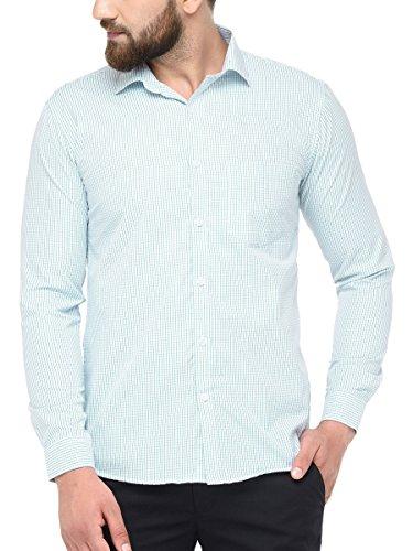 BEING FAB Checkered Formal Green Shirt
