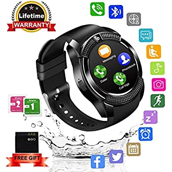 Smart Watch,Bluetooth SmartWatch with Camera Touchscreen,Smart Watches Waterproof Unlocked Phones Watch with SIM Card Slot,SmartWatches Compatible with ...