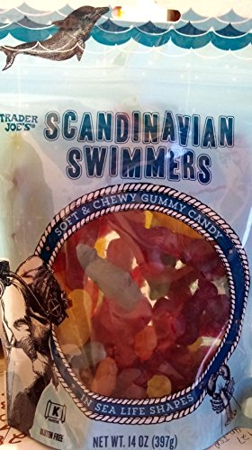 Scandinavian Natural - Trader Joe's Scandinavian Swimmers Gummy Candy Fish and Sea Life Shapes, 14 oz Gluten Free