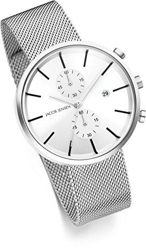 Jacob Jensen herr kronograf kvartsur med rostfritt stål armband 625