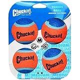 "Chuckit! Tennis Ball, Medium, 2.5"", 4 Pack, Orange/Blue, Medium 2.5"""