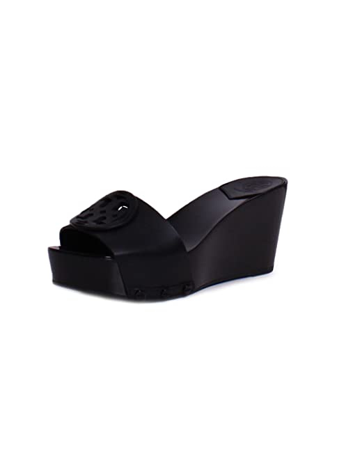 b8a82028e44 Tory Burch Miller 80MM Leather Slide Wedges in Black 9.5  Amazon.ca ...