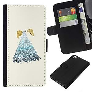 KLONGSHOP // Tirón de la caja Cartera de cuero con ranuras para tarjetas - Bordado de la abuela de la abuela - HTC Desire 820 //