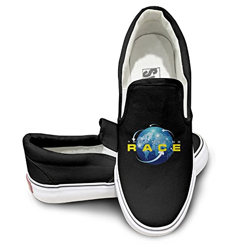 CYANY The Amazing Race American Game Shows Entertainment Unisex Footwall Canvas Shoes Baseball Black