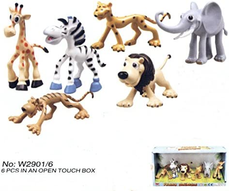 caja 6 animales selva 10 cm 29016: Amazon.es: Juguetes y juegos