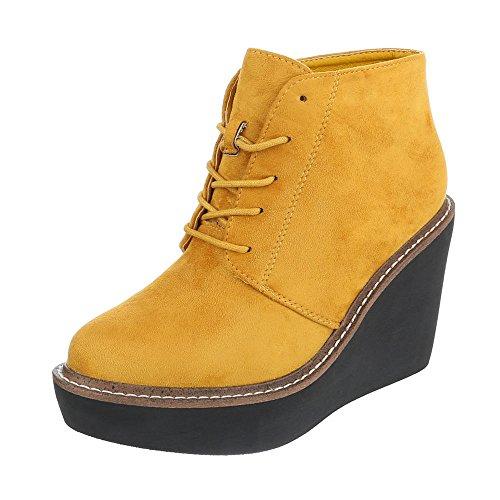 Ital-Design - Plataforma Mujer amarillo
