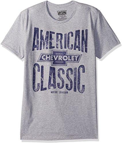 Chevrolet Mens Auto Short Sleeve Graphic T Shirt  Heather Grey 2  Large