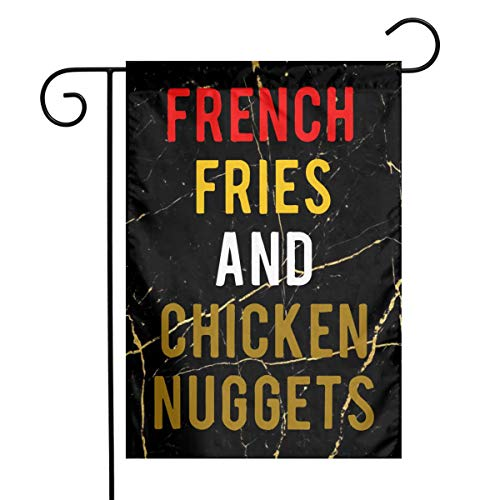 - FADFAF3124 French Fries and Chicken Nugget Double Sided 12 X 18 Inch Yard Flag Seasonal Spring Summer Outdoor Funny Decorative Flags