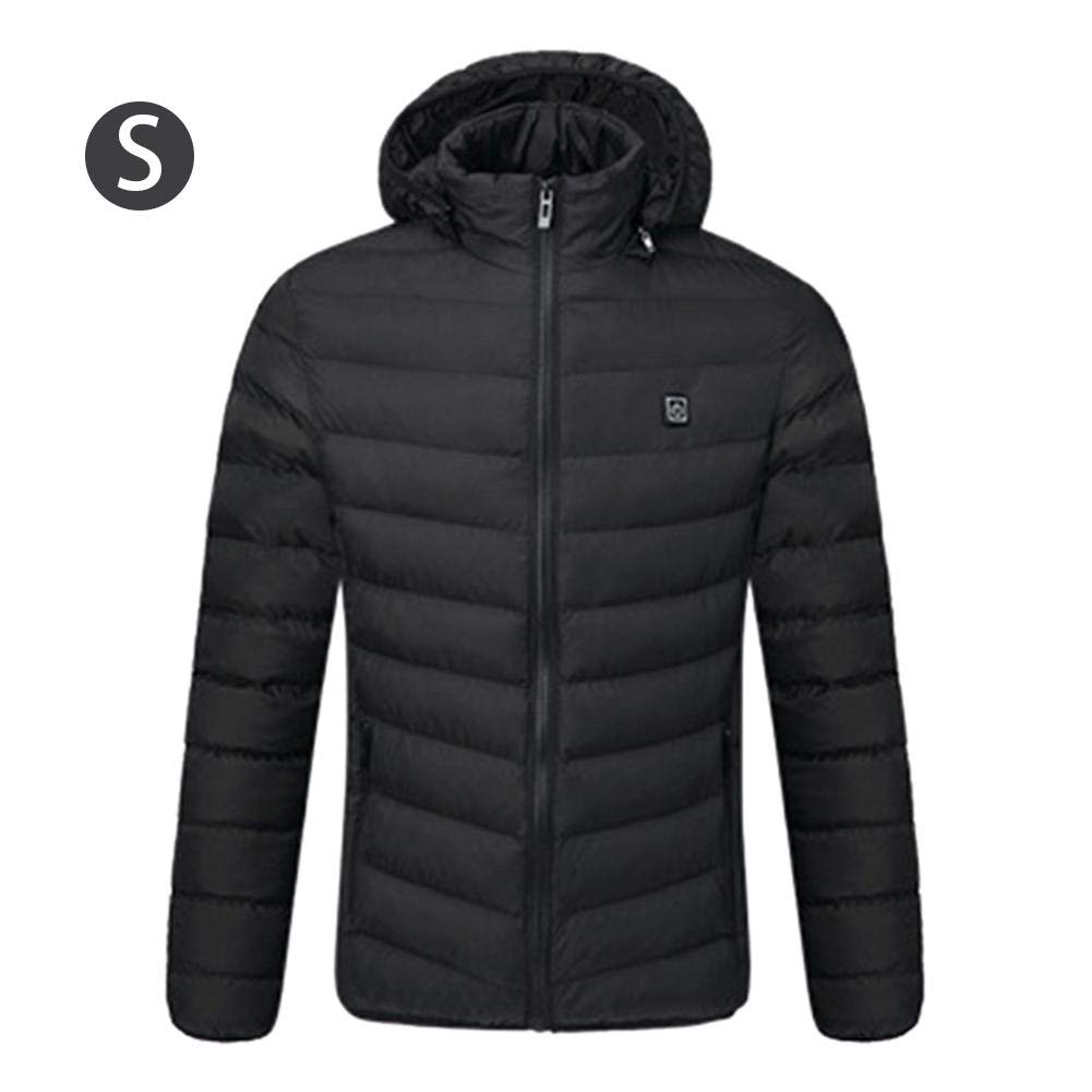 Heated Jacket, SHZONS USB Charging Electric Heated Body Warmer Down Vest, Rechargeable Thermal Hooded Waistcoat 3 Heat Settings