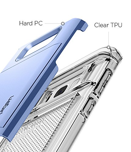 Spigen Crystal Wallet Galaxy S8 Case with Slim Dual Layer Wallet Design and Card Slot Holder for Galaxy S8 (2017) - Coral Blue by Spigen (Image #4)