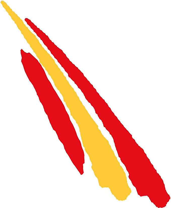 Artimagen Pegatina Bandera Trazo Largo España 110x30 mm.: Amazon ...