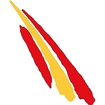 2 unds Pegatina vinilo adhesivo bandera España para cascos coches motos ciclomotores bicicletas de OPEN BUY: Amazon.es: Hogar