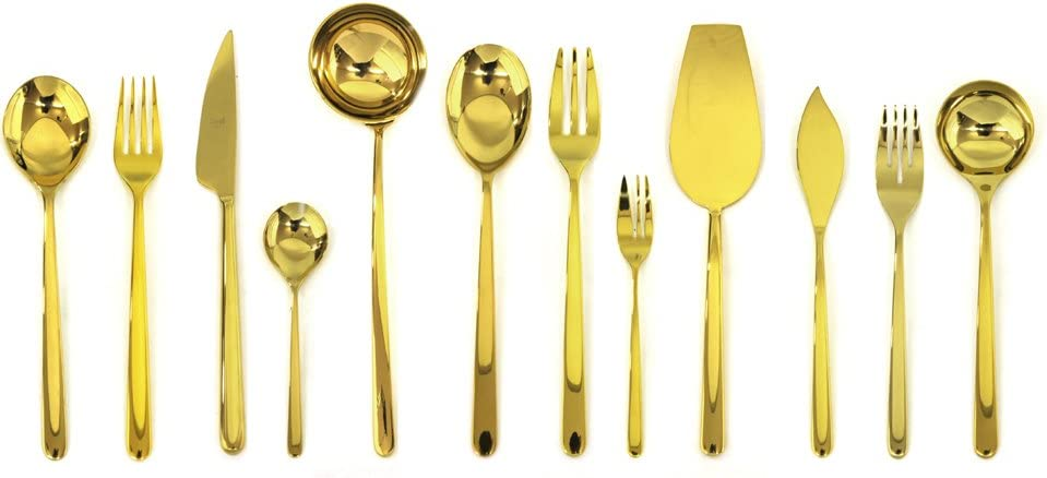 B00GD9GK7O Mepra 109122113S Linea Bronzo 113 Pcs Serving Set - Silver Tableware, Dishwasher Safe Cutlery 51GGUcZPSiL.SL1000_