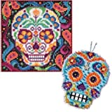 2 Item Skull Cross Stitch Kit Bundle: 1 Buttons and Bead Counted Cross Stitch and 1 Counted Glass Beads Kit