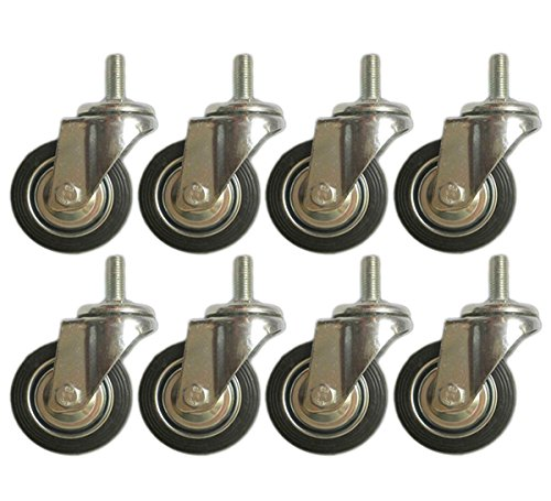 8 Pack Swivel Stem Caster with 3
