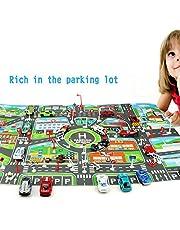 Ksruee Mapa de estacionamiento de la Ciudad de Toy Car para niños, versión en inglés