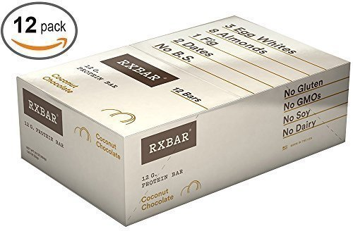 RxBar Real Food Coconut Cacao Protein Bar, 1.83 Ounce (Pack of 12)