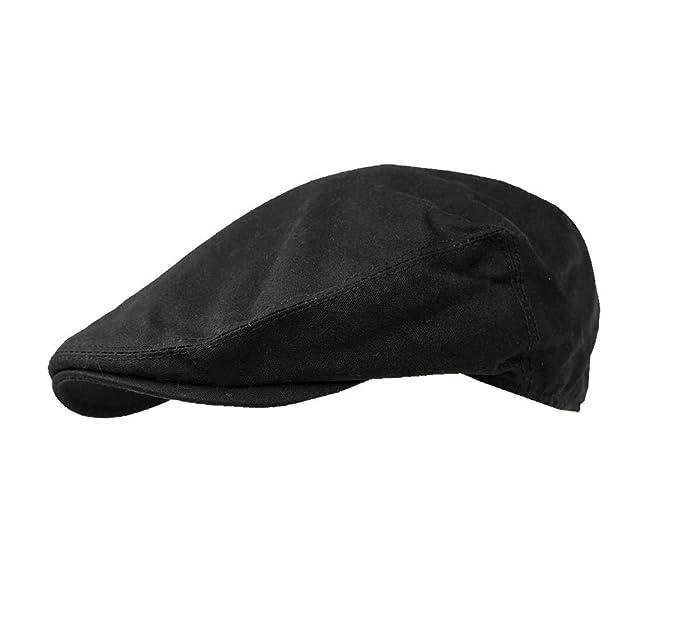 d5d5cc4c45f Failsworth Hats Wax Flat Cap Earland Brothers - Black Wax  Amazon.co.uk   Clothing