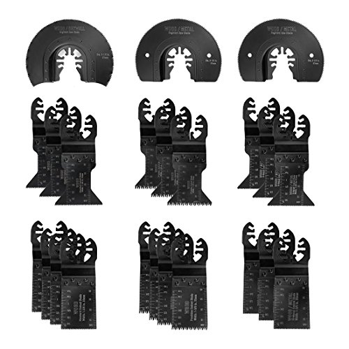 WORKPRO 23-piece Oscillating Saw Blades Set for Quick Release Multitool, Metal/Wood Blades for Dewalt, Craftsman, Ridgid, Milwaukee, Rockwell, Ryobi and More