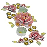 ShalinIndia Handmade Colurful Christmas Diyas Candle Tea Light Holders Rangoli Decorations - Perfect for Everyday Decor