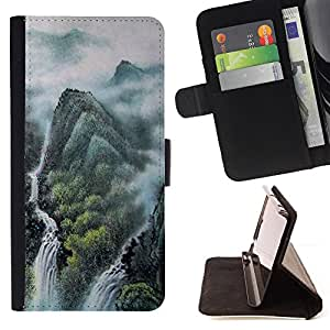 For HTC One M9 - Chinese landscape painting /Funda de piel cubierta de la carpeta Foilo con cierre magn???¡¯????tico/ - Super Marley Shop -