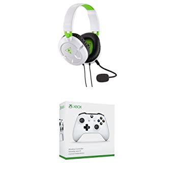 Turtle Beach - Auriculares gaming, Recon 50 X Blanco + Microsoft - Mando Inalámbrico,