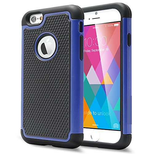 TCD for iPhone 7 PLUS Executive Armor Defender Series BLUE [HIGH IMPACT] Multi Layer [Hard/Soft Combo] TPU Hard Plastic Shock Absorbent Case [SCREEN PRTOECTOR STYLUS]