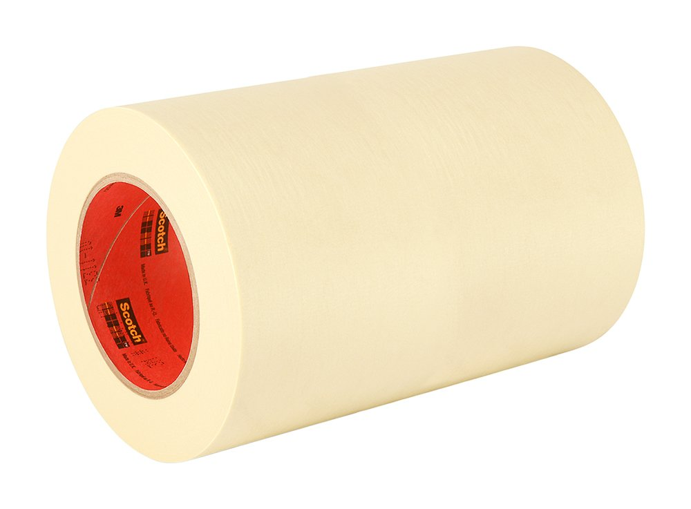 3M General Use 201+ Masking Tape - 6 in. (W) x 180 ft. (L) Crepe Masking Tape Roll with Solvent Free Rubber Adhesive