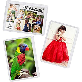 12 Pack Magnetic Wallet Picture Frames Holds 2 1/2