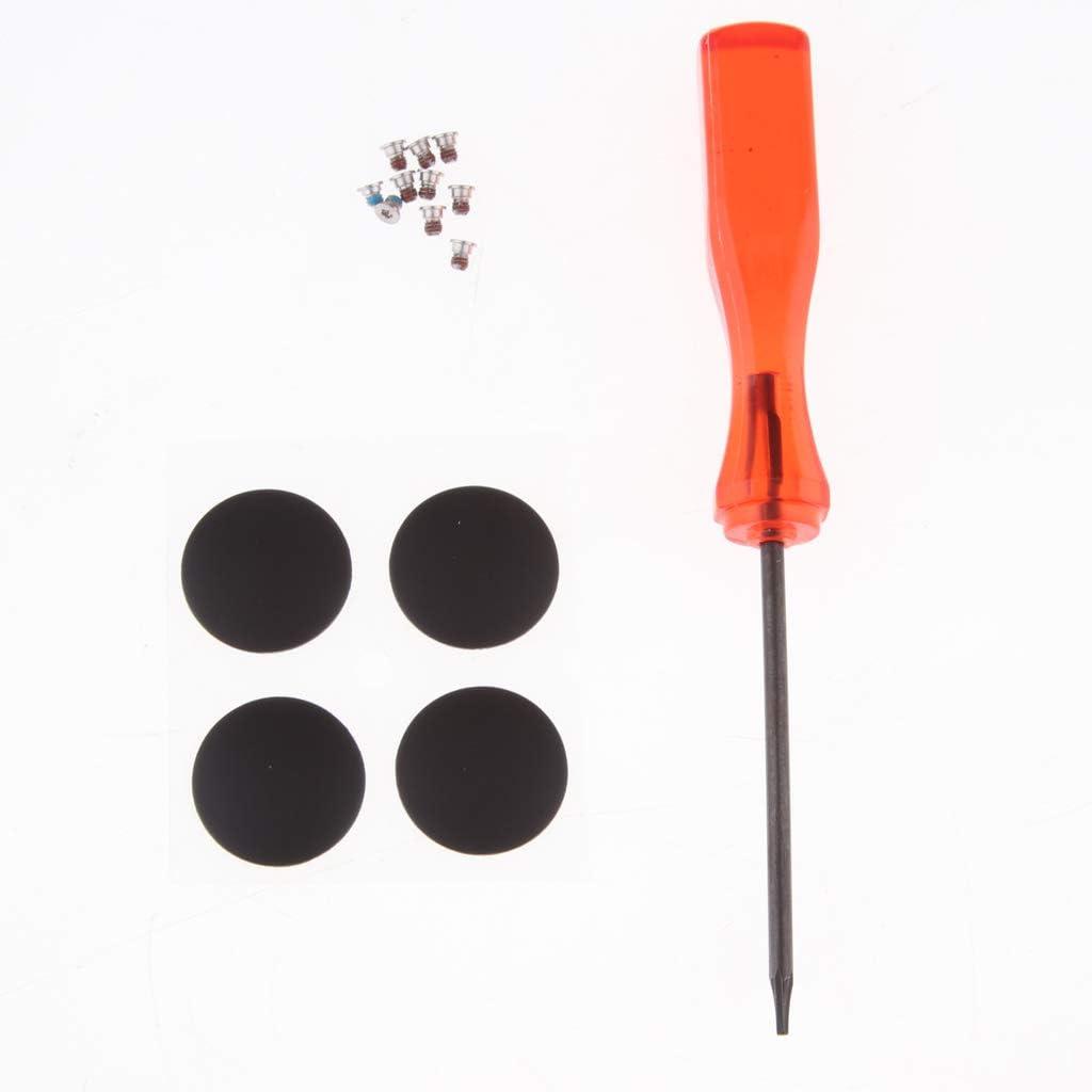 10x Screws Screwdriver for MacBook Pro Retina A1425 A1502 A1398 13inch 15inch 4X Bottom Case Rubber Feet