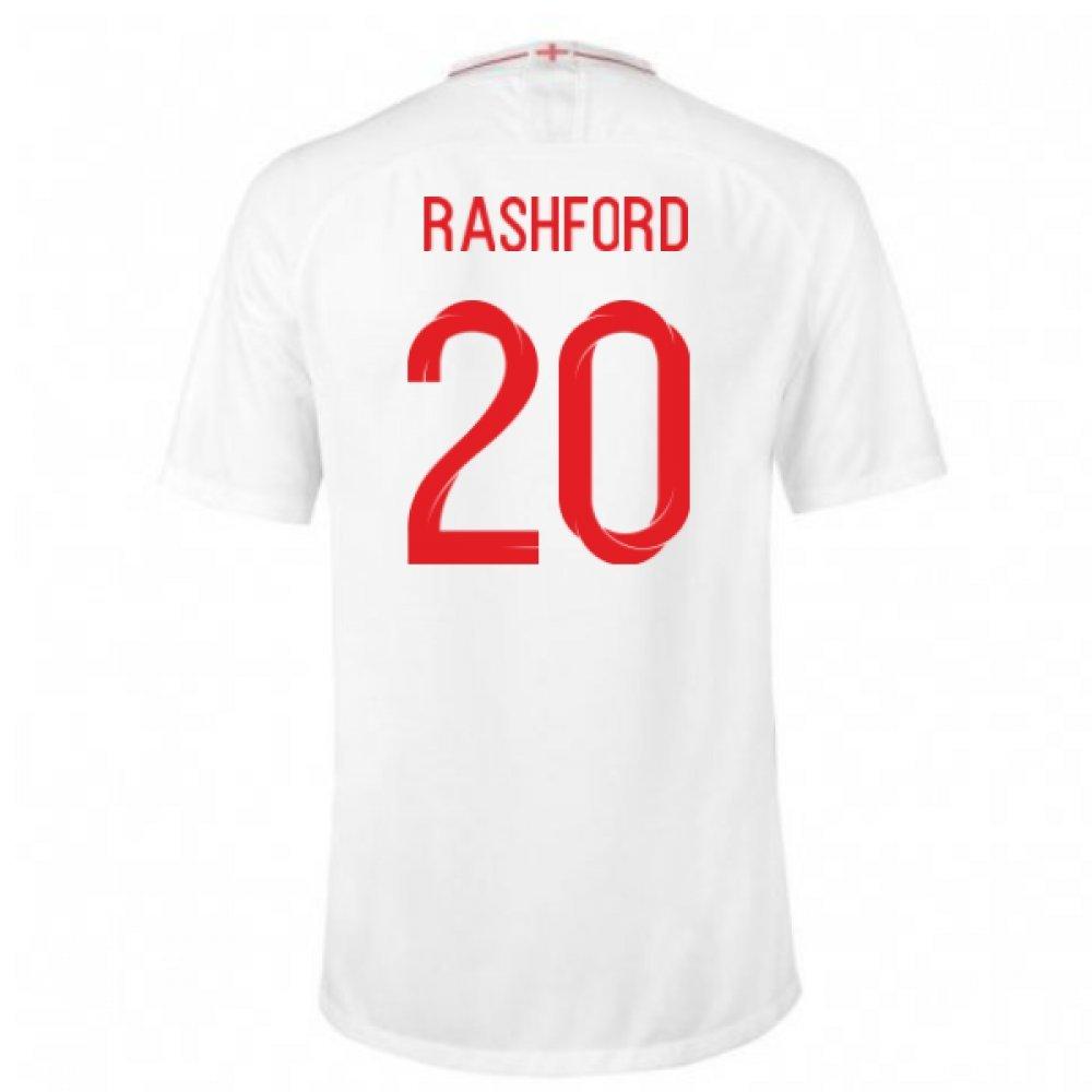 2018-2019 England Home Nike Football Shirt (Rashford 19) B07D8ZZTDVWhite Large 42-44\