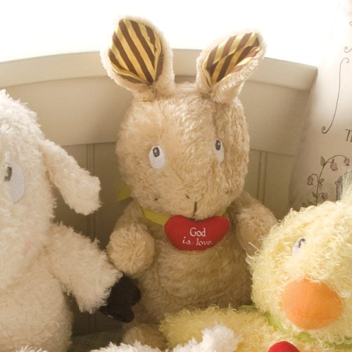 Peek A-boo Pocket (God is Love Plush Bunny Rabbit with Crinkle Sound Ears & Peek A Boo Heart Pocket - Really Woolly Plush)