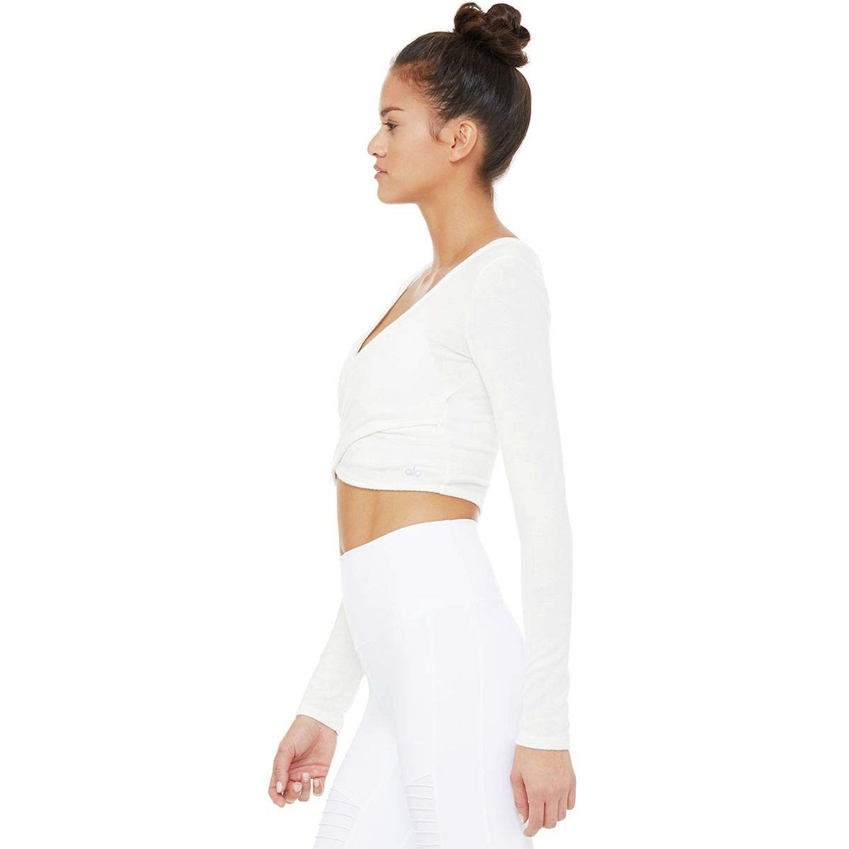 69a0e37115174 Alo Yoga Amelia Luxe Long-Sleeve Crop Top - Women s Pristine Heather ...