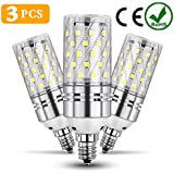 ODSEN E12 LED Light Bulbs,3 PCS 12W LED Candelabra Light Corn Bulbs, 100W Incandescent Equivalent, Non-dimmable 6500k Natural Daylight white for Chandeliers Decorative.