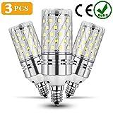 12 lightbulb - ODSEN E12 LED Light Bulbs,3 PCS 12W LED Candelabra Light Corn Bulbs, 100W Incandescent Equivalent, Non-dimmable 6500k Natural Daylight white for Chandeliers Decorative.