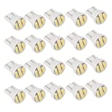 20 T10 W5W 168 194 Bright White 8 SMD LED Side Wedge Light Bulb Lamp
