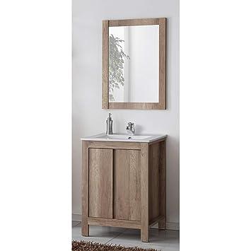 Lomadox Badezimmer Waschplatz Waschtisch mit Spiegel ...