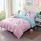 Dayiyang Fashion Funny Bunny Personalized Polyester Bedding Set (Size : European double bed)