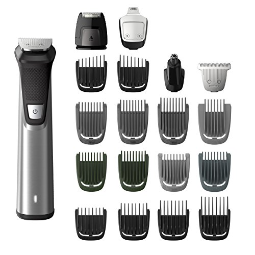 Philips Norelco Multi Groomer MG7750/49-23 piece, beard, body, face, nose, and ear hair trimmer, shaver, and (Beard Trimmer)