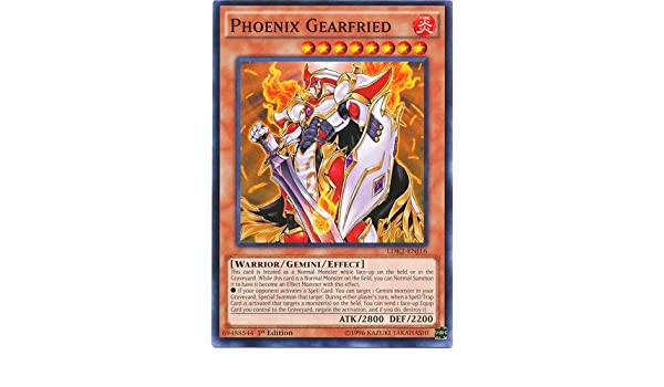 PHOENIX GEARFRIED YU-GI-OH CARD LDK2-ENJ16 1ST EDITION
