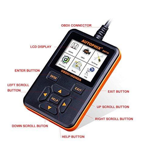 Autophix ES710 Honda Acura Scanner Diagnostic Scan Tool SRS - Import