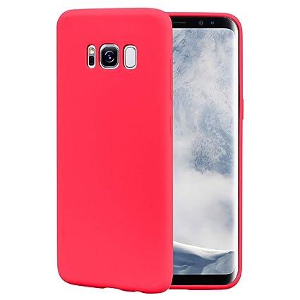 CoqueCase Funda para Samsung Galaxy S8 Plus Silicona Suave Flexible Antigolpes Goma Ultra Delgado Caso Color Cubierta Protector Bumper Case para Caja ...